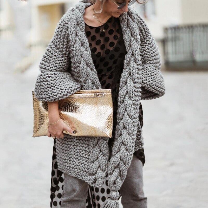 Cardigan tejido a mano con borlas para mujer suéter abrigo 2019 Otoño Invierno suelto cárdigan tirar mujer ropa suéter Mujer