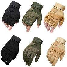 Армейские тактические перчатки с полными пальцами, военные армейские митенки без пальцев, страйкбол, велосипедные перчатки для спорта на открытом воздухе, охотничьи перчатки