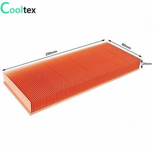 Image 2 - 100% ใหม่ 200x80x20 มม.ฮีทซิงค์ทองแดงบริสุทธิ์ Skiving Fin สำหรับชิปอิเล็กทรอนิกส์ LED Power เครื่องขยายเสียง Cooling Cooler