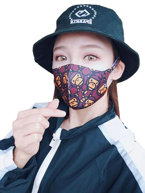 Painted Cotton Mouth Mask Anti Dust Fog Washable Breathable Personalized Mouth-Muffle Bacteria Proof Flu Face Masks For Riding 4
