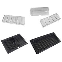 Poker-Chip-Stand Tray-Chip Poker-Table-Accessories Professional Storage-Box Acrylic 100/350/500