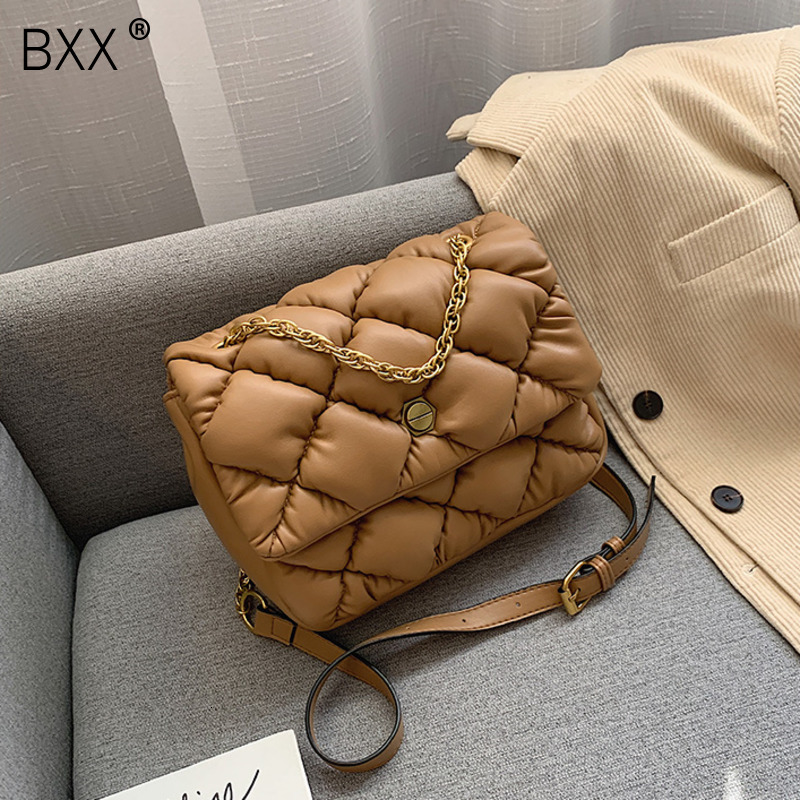 [BXX] PU Leather Crossbody Bags For Women 2020 Brand Designer Shoulder Messenger Bags Female Travel Handbags And Purses HJ412