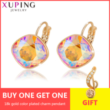 Xuping Jewelry Hoop Earrings  Crystals from Swarovski Party Temperament Mother's Day Gift Women Girls M76\M77-20373