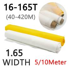 White 5/10 Meters 40-420M Polyester Silk Screen Printing Mesh 160cm Width 16T/32T/39T/47T/53T/62T/80T/100T/120T/140T/150T/165T(China)