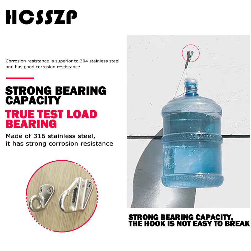 Image 2 - HCSSZP 4 Pieces Locked Fender Spring Hooks Stainless Steel 316 Snap Coat Cap Hook Attach Rope Boat Sail Tug Ship Marine Hardware-in Marine Hardware from Automobiles & Motorcycles