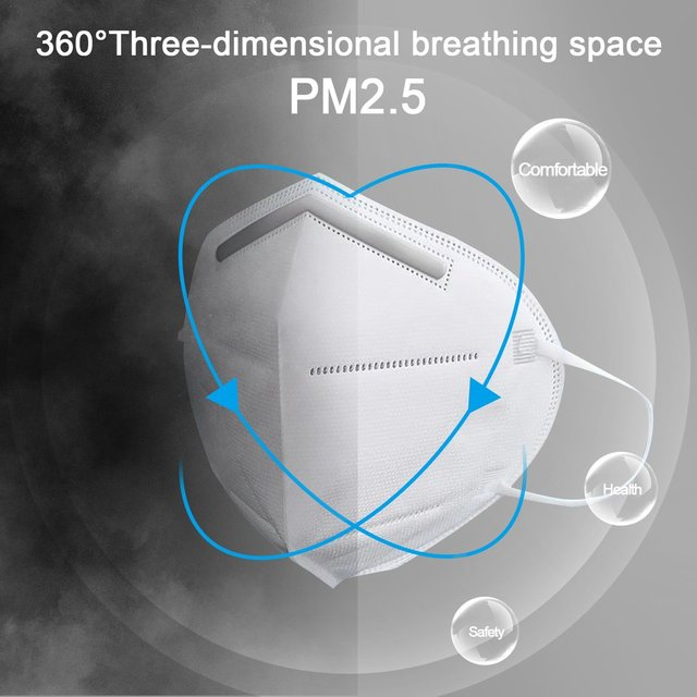 Breathable KN95 Respirator Filter Protection Dust Respirator Light And  Breathable  Respirator Fresh 3D Fitting  1 Pcs 3