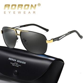 AORON Men's Polaroid Sunglasses Men Goggles Luxury Design Aluminum Magnesium Frame Sun Glasses Vintage Oculos de sol