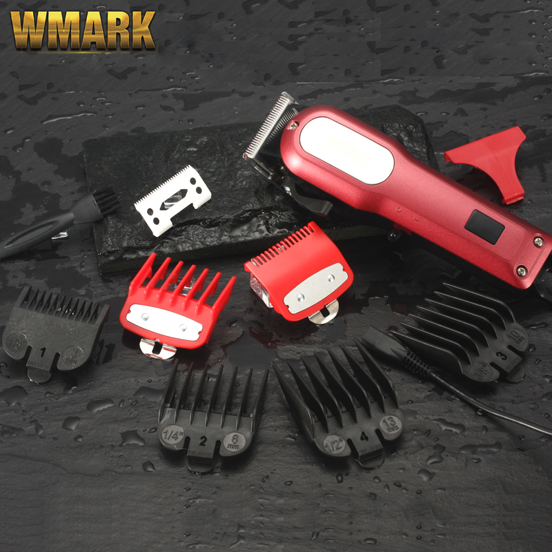 WMARK NG-101 LCD Professional Hair Cutter Hair Trimmer Rechargeable 2000mAh Lithium Battery 6500rm Coldless Hair Clipper
