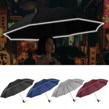 Automatische Regenschirm Reverse Folding Business Regenschirm Mit Reflektierende Streifen Wind Beständig Regenschirme Regen sonnenschirm
