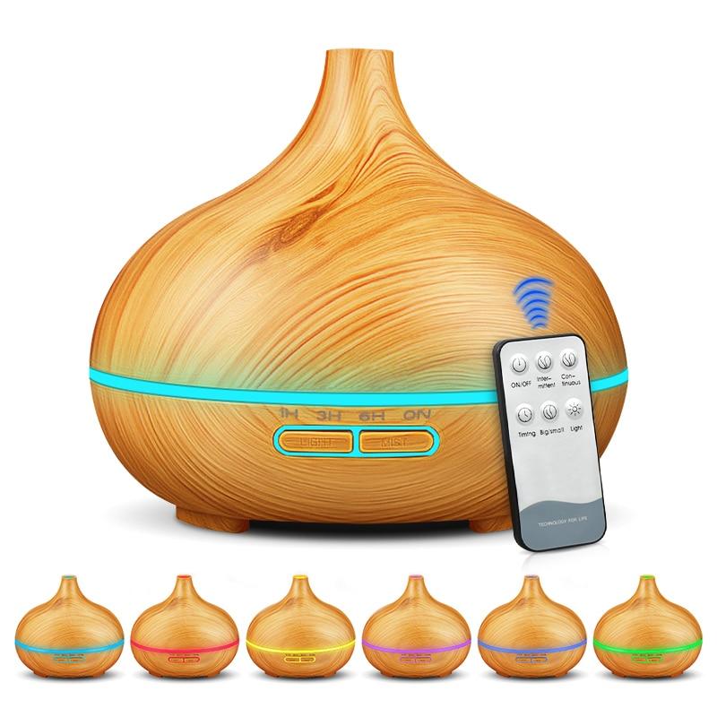 550ml aroma umidificador de ar óleo essencial difusor aromaterapia elétrica ultra-sônico fabricante névoa fria para casa controle remoto