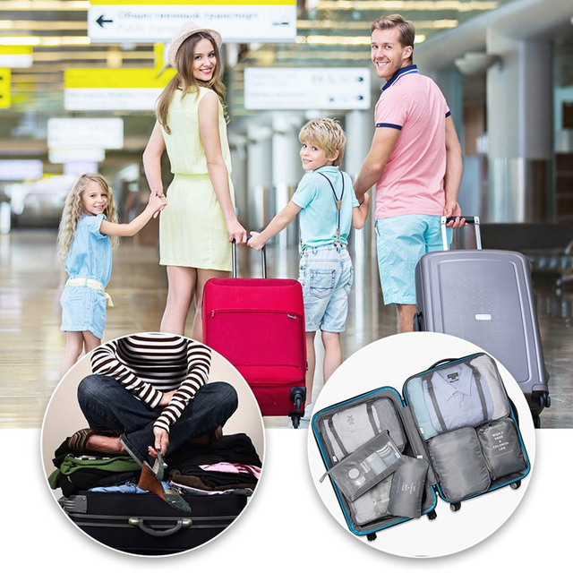RUPUTIN 7-Piece Set Travel Storage Clothes