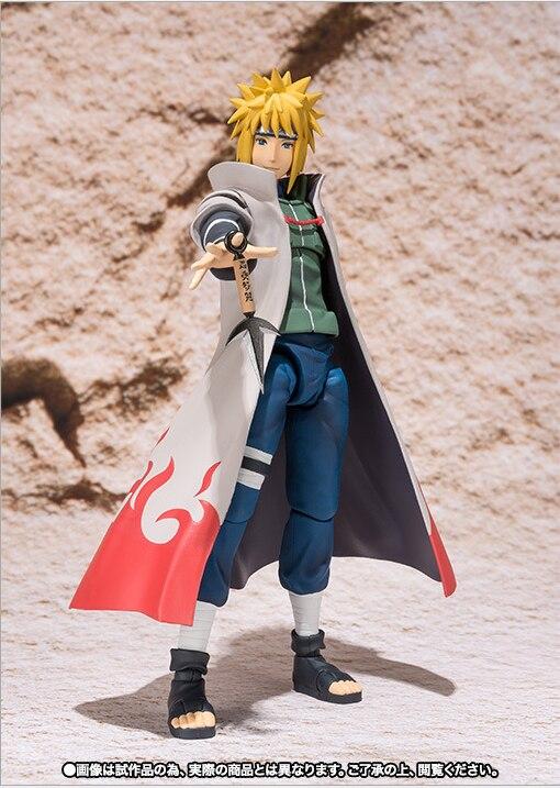 SHF Naruto Shippuden Namikaze Minato Action Figure PVC Minato Namikaze Figure Collectible Model Toy 14cm 1