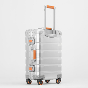 Image 2 - Neue 20/24 zoll retro alle aluminium magnesium legierung gepäck spinner tragen auf internat business trolley koffer mode koffer