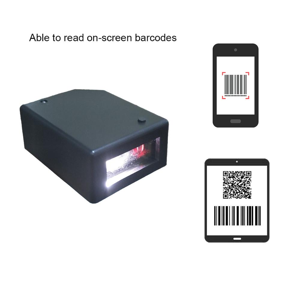 TEKLEAD RS232 серийный USB ПЗС-сканер штрих-кодов/2D/QR считыватель штрих-кодов Мини автоматический модуль сканирования для киосков Мобильных Платеж...