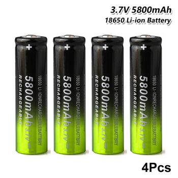 Nowy YCDC 4 sztuk 3 7V 5800mAh 18650 akumulator litowo-jonowy akumulator litowy z podwójna ładowarka USB dla Led lekki aparat latarka tanie i dobre opinie Li-ion Other CN (pochodzenie) Baterie Tylko