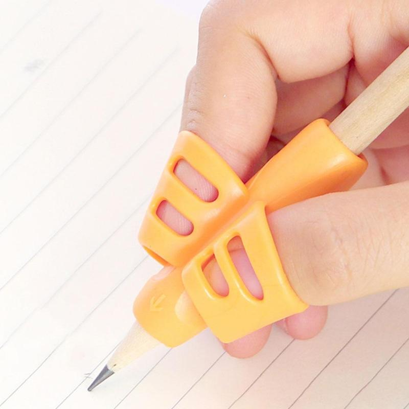 3pcs Children Writing Pencil Pan Holder Kids Learning Practise Silicone Pen Aid Grip Posture Correction Device
