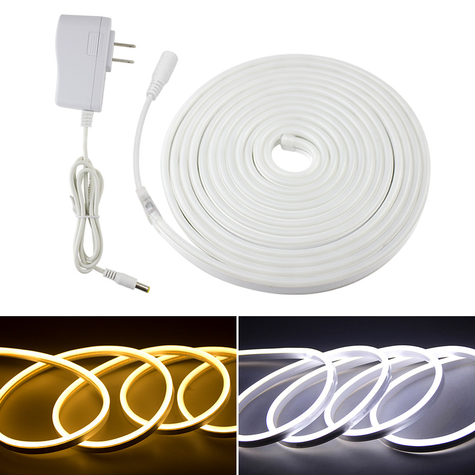 IP67 Waterproof Led Strip Light 12V With EU/US Power Adapter 120Leds/m 2835SMD Led Diode Tape Flexible DIY Led Neon Strip Lights