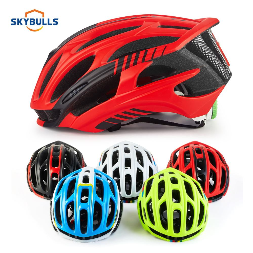 Skybulls Road Mountain Bike Helmet Man Ultralight MTB Cycling Helmet With LED Taillight Sport Safety Gear capacete ciclismo image