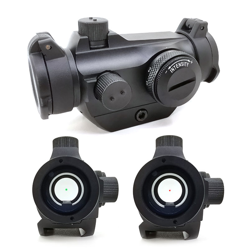 Tactical 2MOA Red&Green Dot Sight T2 Rifescope Sight Illuminated Sniper  Compact Red Dot Scope With Low Mount
