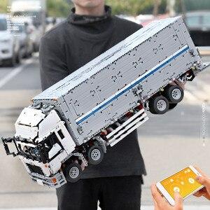 Image 3 - 23008 jouets de voiture technique compatibles avec MOC 1389 APP moteur aile corps camion blocs de construction brique voiture modèle enfants cadeau de noël