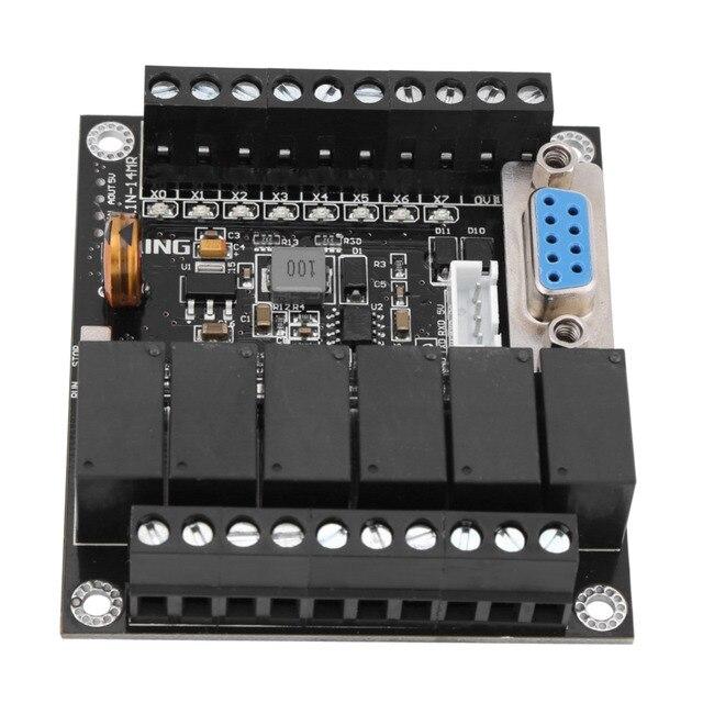 อุตสาหกรรม PLC Programmable Controller โมดูล FX1N 14MR รีเลย์โมดูล 24V PLC ควบคุม