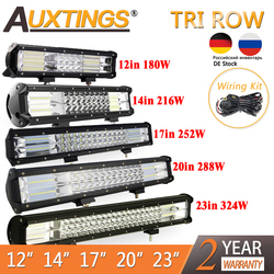 Auxtings 7D LED Bar 12 14 17 20 23in LED Light Bar for Car Tractor Boat OffRoad Off Road 4WD 4x4 Truck SUV ATV Driving 12V 24V