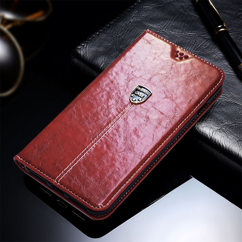 Wallet Cover Luxury Retro Slim Leather Flip Cover For TCL PLEX A1X Mobile Phone Case Flip Leather Case Card Slot Bracket