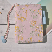 Pink Floral Hand Made Classic Journal Cover A5 A6 Suit For Standard A5/A6 Fitted Paper Book Free Shipping цена и фото