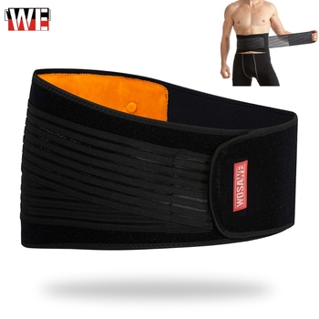 WOSAWE Waist Support Motorcycle Back Support Double Adjust Lumbar Brace Belt Slimming Bodybuilding Gym Fitness Belt