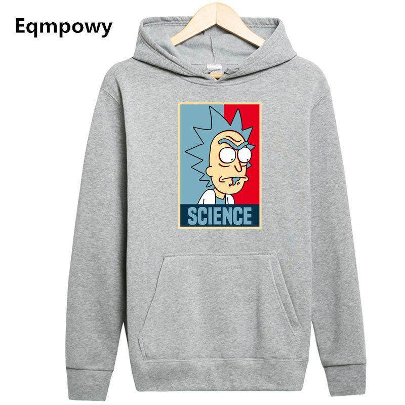 Eqmpowy Men Hip Hop Sweatshirts with hood Cool Rick Morty Hoodie Fashion Brand Clothing Character Men Pullover Hoodies
