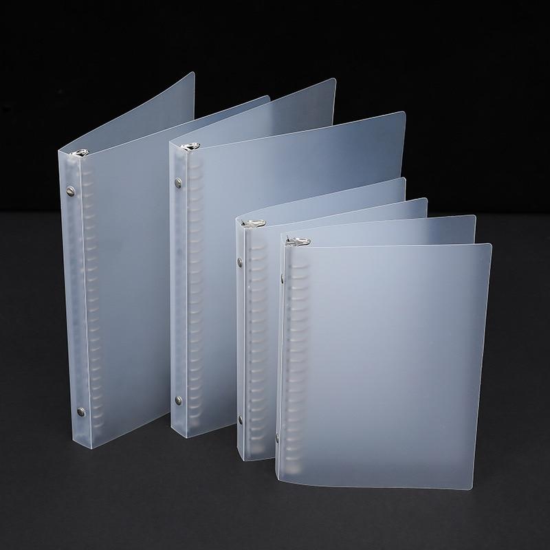 1pc Transparent Folder Pp Binder A4 B5 Plastic Shell Multi-functional Metal Loose-leaf Folder File Folder Office Supplies New