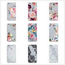 P20 Lite Case for Huawei P30 P20 Mate 20 Pro P10 Lite Clear Soft Phone Cover Huawai Honor 8X Silicone Flower Transparent Coque(China)