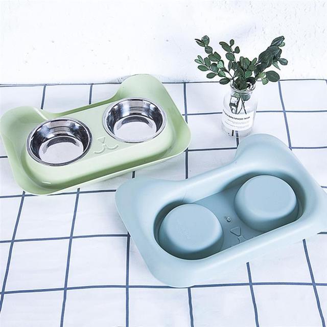 Creative  Non-Slip Double Bowls
