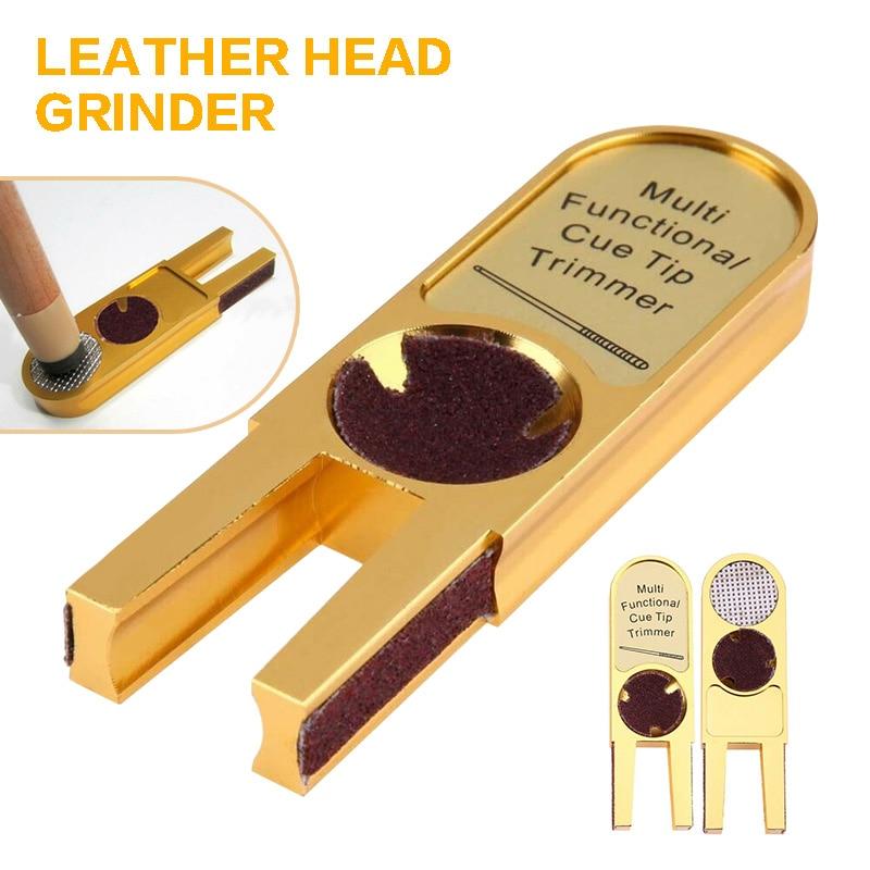 Multifunctional Gold U-shaped Grinding Billiards Cue Tip Scuffer Trimmer Billiard Bar Head Repair Tool Billiard Supplies