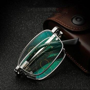 Gafas De Lectura plegables De marca para hombres vasos De acero inoxidable...