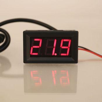 "0.56"" DS18B20 Digital Thermometer Waterproof Temperature Sensor Probe DC 12V 24V L69A"