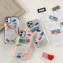 Fashion 2020 calendar card Phone case for iPhone