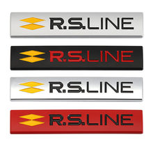 Car Sticker Emblem Badge Decal for Renault RS Line Clio Megane Scenic laguna Logan Koleos Sandero Safrane Velsatis Arkana Audi