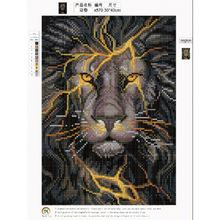 Full Diamond Lion 5D Diamond Painting DIY Embroidery Cross Stitch Craft Needlework Kits Wall Art Pictures Decoration30x40cm(China)