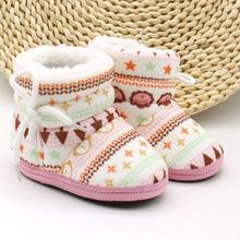 2019 Baby Shoes Toddler Shoes Girl Boy Winter Baby Boots Warm Fleece Children Kids Snowboots Toddler bebe shoes(China)
