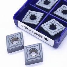 10 pces cnmg120404/8 nn lt10 carboneto de tungstênio inserir ferramentas de corte torneamento, inserções de carboneto torno ferramenta de torneamento