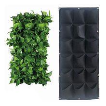 Colgante de pared de plantación bolsas bolsillos negros bolsa de crecer jardín Vertical macetero vegetales vida Bonsai flor planta suministros para el hogar