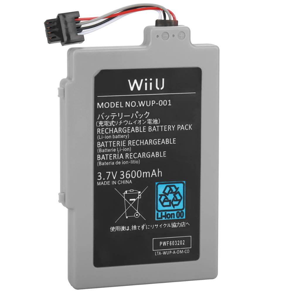 3.7V 3600mAh  Rechargeable Battery For Nintendo Wii U Gamepad Replacement Battery