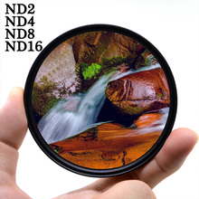 цена на KnightX ND ND2 ND4 ND8 ND16 Lens Filter Neutral Density Camera color light grijsfilter 49mm 52mm 55mm 58mm 62mm 67mm 72mm 77mm