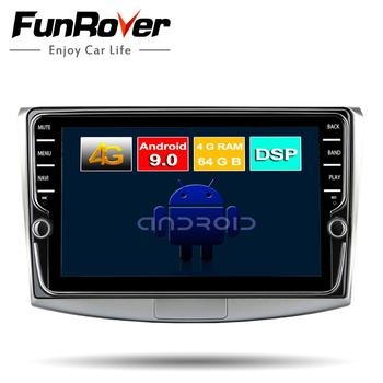 FUNROVER 8cores android 9.0 car dvd multimedia player for Volkswagen Passat CC B6 B7 Magotan 2011-2014 radio gps stereo navi DSP