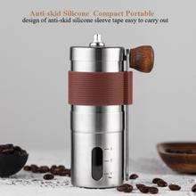Młynek do kawy Mini instrukcja obsługi ze stali nierdzewnej ręcznie młynki do kawy młynek narzędzia kuchenne młynki ekspres do kawy Cocina tanie tanio CN (pochodzenie) STAINLESS STEEL Zmywalna