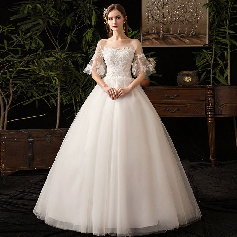 Sexy Beautiful Lace Wedding Dresses Dream Elegant Bride Wedding Gown Delicate Noble Wedding Dress Vestido De Noiva