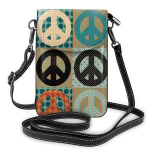 OLN 2020 femmes messager bretelles sac Vintage pacifique symbole porte-cartes téléphone portable poche sac à main dames téléphone sac à main