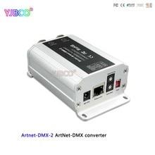 מהיר חינם DC12V ממיר Artnet dmx; Artnet DMX 2;ArtNet קלט; DMX 1024 ערוצי פלט 512 * 2CH ערוצים