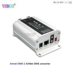 Envío rápido, convertidor artnet-dmx DC12V; Artnet-DMX-2; Entrada ArtNet; Salida de 1024 canales DMX 512*2 canales